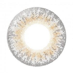 リルムーンワンマンス クリームグレージュの装着画像・レンズ画像