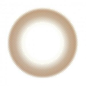 ジーヴルトーキョー トゥルーヘーゼルの装着画像・レンズ画像