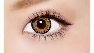 ワンデーサイバーゴールド ダイヤモンドブラウン バイ ヴィヴィアントウキョウコレクションの装着画像・レンズ画像・パッケージ箱画像レポ