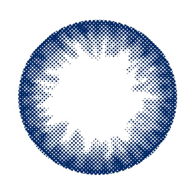 パーツホワイトワンデー プロデュース バイ ナンバーナナハチの#01サークルネイビーの装着画像・レンズ画像・パッケージ箱画像レポ