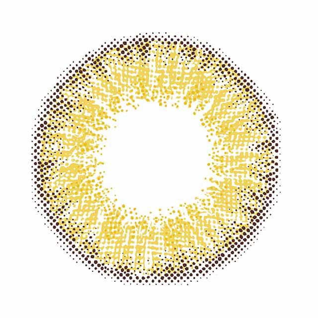 ミッシュブルーミン クォーターヴェールシリーズ ヌーディーベージュの装着画像・レンズ画像・パッケージ箱画像レポ
