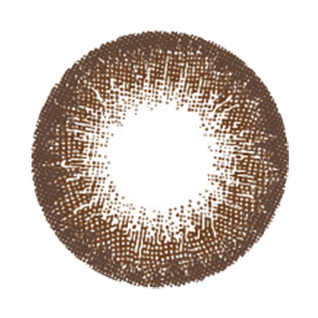 ヴィクトリアワンデーアクアバイキャンディーマジック ココアの装着画像・レンズ画像・パッケージ箱画像レポ