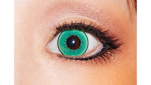 ドルチェストロングワンデー グリーンリーフの装着画像・レンズ画像・パッケージ箱画像レポ