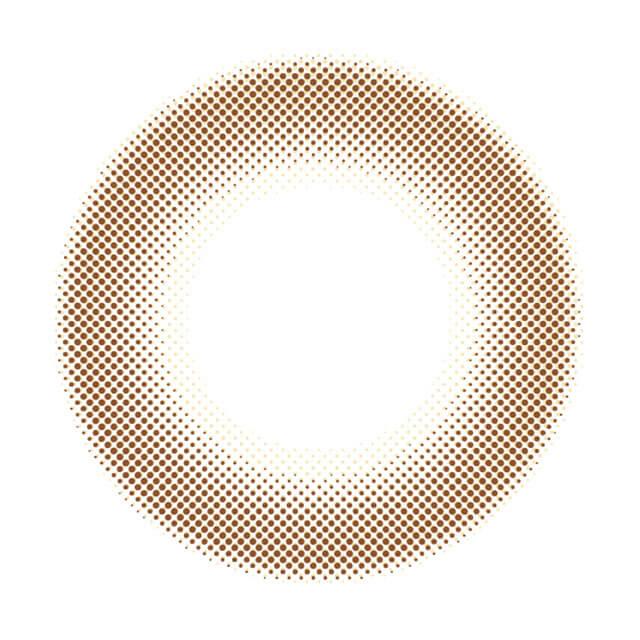 ジーヴルトーキョー 2week トゥルーヘーゼルの装着画像・レンズ画像