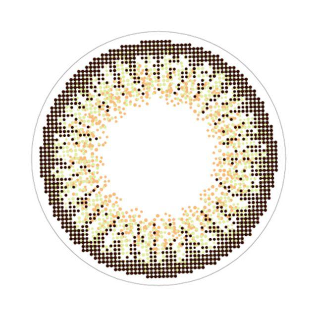ラヴェール シアーヘーゼルの装着画像・レンズ画像・パッケージ箱画像レポ