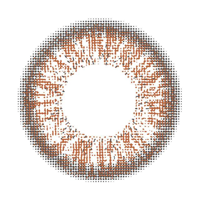シュガーフィール ガレットブラウンの装着画像・レンズ画像・パッケージ箱画像レポ