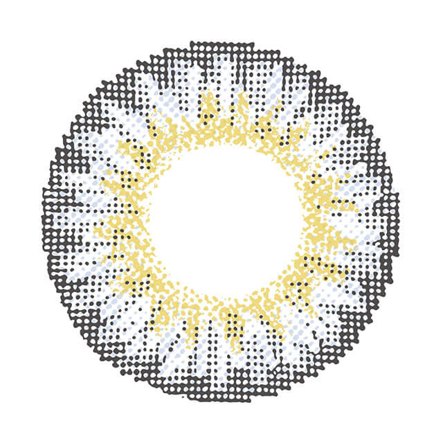 シュガーフィール エラドグレーの装着画像・レンズ画像・パッケージ箱画像レポ