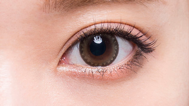 フラワーアイズワンデークロッシェ シスルブラウンの装着画像・レンズ画像・パッケージ箱画像レポ