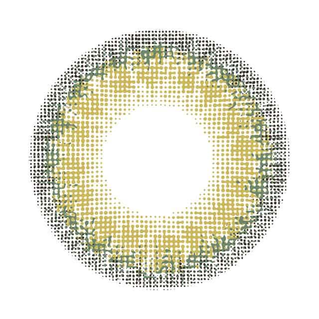 メランジェバイマジックカラー トワイライトヘーゼルの装着画像・レンズ画像・パッケージ箱画像レポ