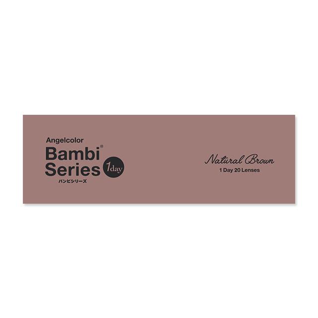 エンジェルカラー バンビシリーズ ナチュラル ナチュラルブラウンの装着画像・レンズ画像・パッケージ箱画像レポ