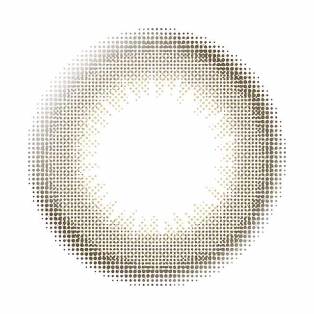 ビュームワンデー クラッシーベージュの装着画像・レンズ画像・パッケージ箱画像レポ