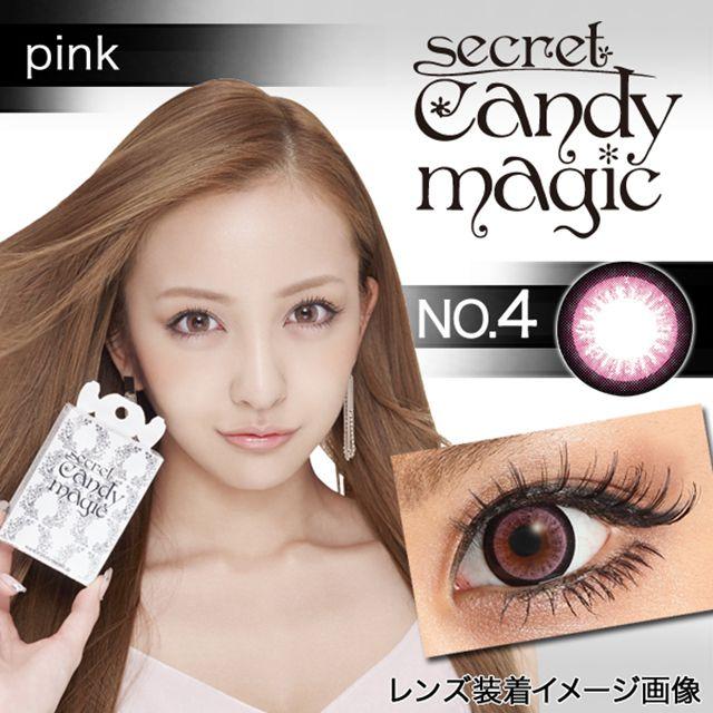 シークレットキャンディーマジック No.04 ピンクの装着画像・レンズ画像