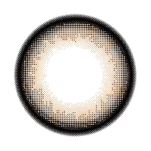 ヴィクトリア2weekバイキャンディーマジック モカの装着画像・レンズ画像・パッケージ箱画像レポ