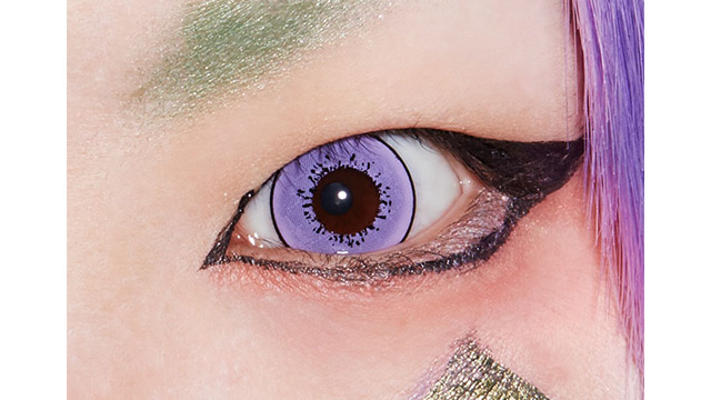 ドルチェストロングワンデー パープルクリスタルの装着画像・レンズ画像・パッケージ箱画像レポ
