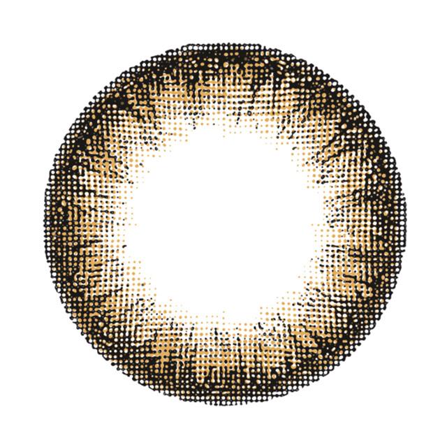 レヴィア ワンマンス カラー ペニーコーラルの装着画像・レンズ画像・パッケージ箱画像レポ