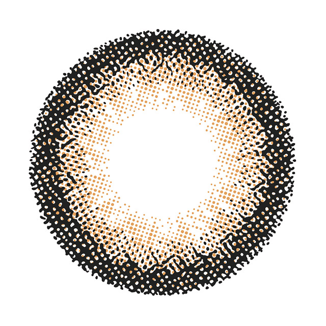 レヴィア ワンデー カラー プラリネブランの装着画像・レンズ画像・パッケージ箱画像レポ