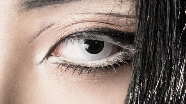 ドルチェ コンタクト パーフェクトシリーズ ワンデー 閃刃ホワイトの装着画像・レンズ画像・パッケージ箱画像レポ