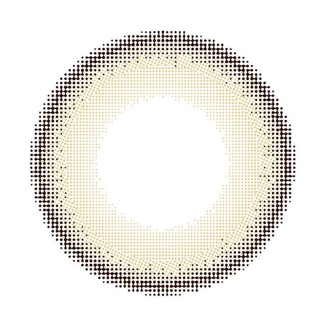 ダイヤワンデー セレーナブラウンの装着画像・レンズ画像・パッケージ箱画像レポ