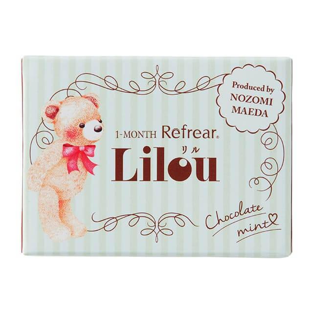 ワンマンス リフレア リル チョコレートミントの装着画像・レンズ画像・パッケージ箱画像レポ
