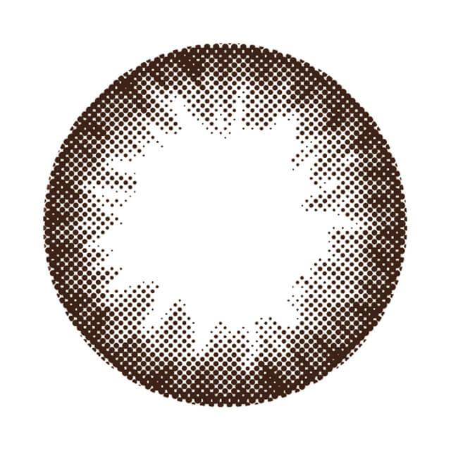 モテコンリラックスワンデー モカブラウンの装着画像・レンズ画像・パッケージ箱画像レポ
