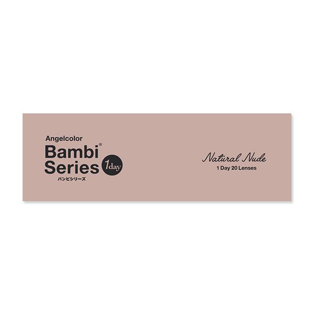 エンジェルカラー バンビシリーズ ナチュラル ナチュラルヌードの装着画像・レンズ画像・パッケージ箱画像レポ