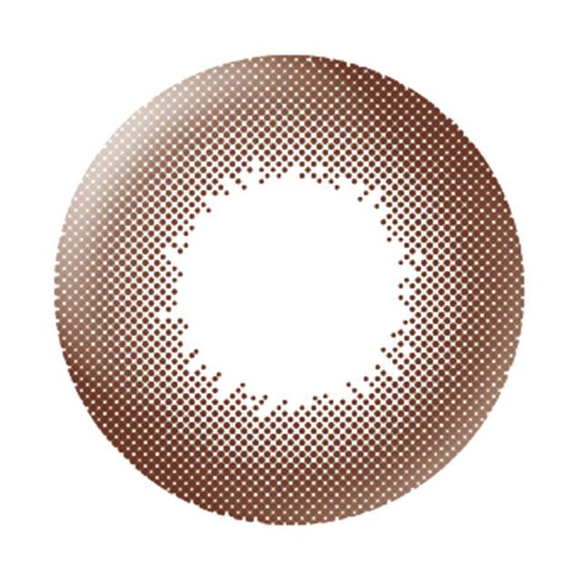 ビュームワンデー ピュアブラウンの装着画像・レンズ画像・パッケージ箱画像レポ